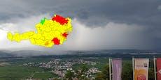 Video zeigt gewaltiges Unwetter vor den Toren Wiens