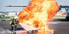 Feuerball auf Linzer Flughafen, das ist passiert