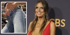 Schwanger? Heidi Klum passt nicht mehr in ihre Jeans