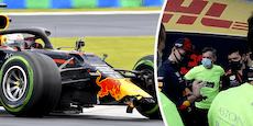 Red-Bull-Mechaniker verspotten Crash-Pilot Verstappen