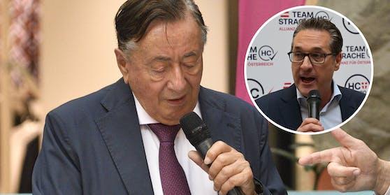 Richard Lugner unterstützt Strache bei seiner Kandidatur.