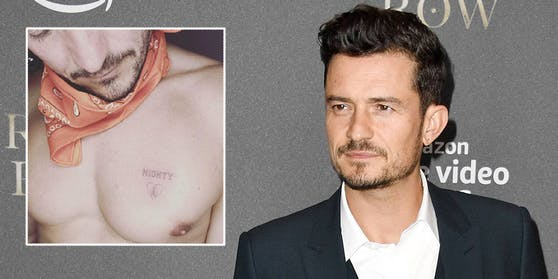 Orlando Bloom hat sich in Erinnerung an seinen verstorbenen Hund den Namen des treuen Vierbeiners als Tattoo stechen lassen.