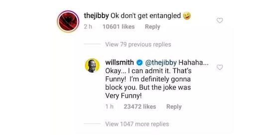 Will Smiths Antwort auf den frechen Kommentar