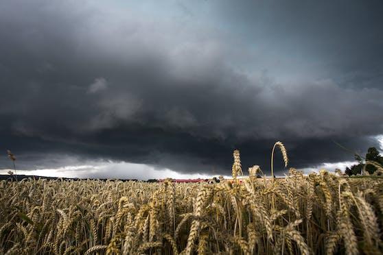 Gewitter in der Südoststeiermark: im Bild eine riesige Gewitterzelle die am 13. Juli 2016 von Leibnitz nach Bad Radkersburg gezogen ist