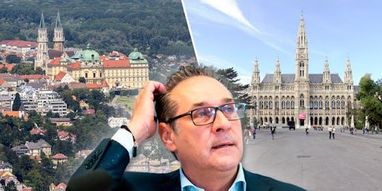 Liegt Straches Lebensmittelpunkt in Klosterneuburg (NÖ) oder in Wien? Diese Frage muss nun die Wahlbehörde klären