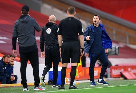 Frank Lampard pöbelt gegen Jürgen Klopp.