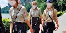 """Marschieren hier blonde Mädchen zum """"Nazi-Sommercamp""""?"""
