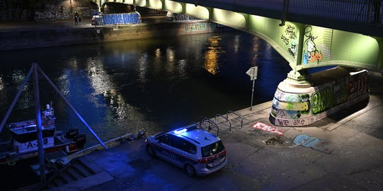 Polizeieinsatz am Donaukanal