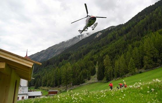 Der Hubschrauber brachte den Leichnam ins Tal.