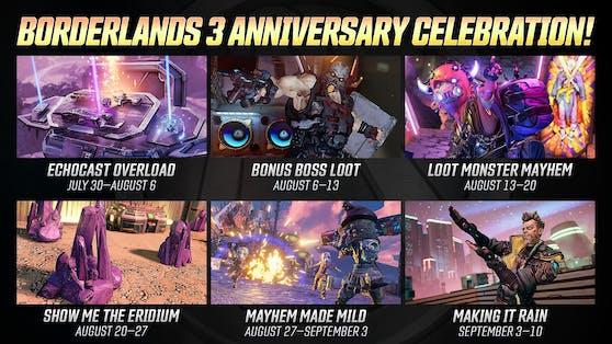 Nächste Woche startet die Borderlands 3-Jubiläumsfeier.
