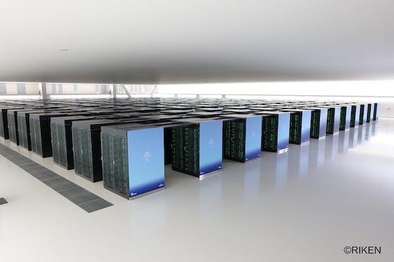 Neuer japanischer Supercomputer Fugaku von Fujitsu und RIKEN.