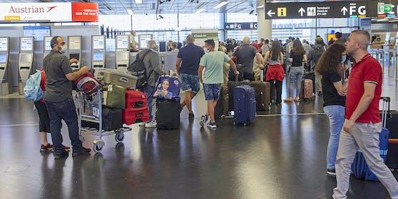 Mehr Corona-Tests am Flughafen Wien.