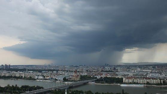 Gewitter über Österreich.