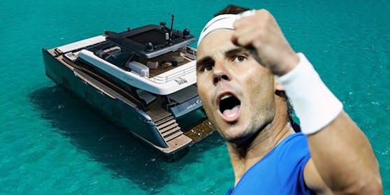 Nadal mit seinem schwimmenden Viertwohnsitz