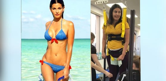 Model Sofia Vera (40) will wieder laufen lernen.