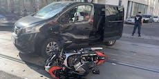 Wiener Biker bei Unfall mit Transporter schwer verletzt