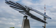Verwelkte Leopoldstädter Solarblume wird nun abgebaut