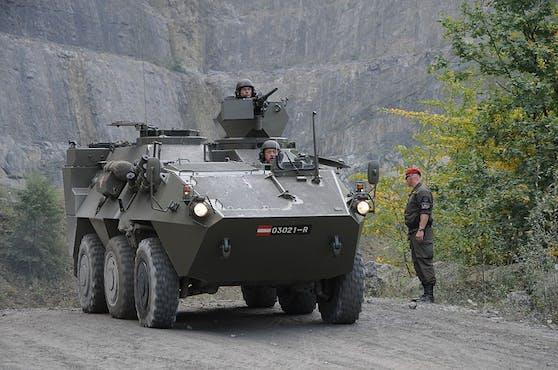 Der Radpanzer Pandur ist bei mehreren österreichischen Jägerbataillonen im Einsatz.