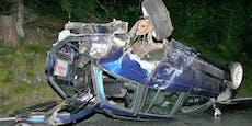 19-Jähriger schrottet Auto und ist Schein los