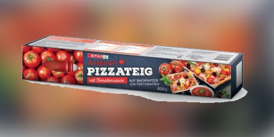 Spar ruft Pizzateig mit Tomatensauce zurück