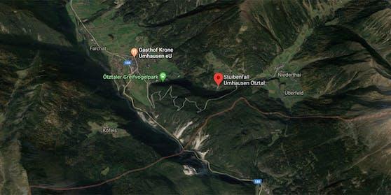 Der Unfall geschah am Klettersteig beim Stubaifall in Umhausen.