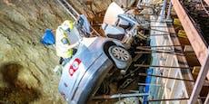 Auto kracht auf A4 frontal in Baugrube: 5 Verletzte