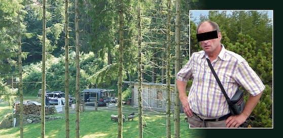 Der 60-jährige Otto L. soll seine Lebensgefährtin in dieser Hütte ermordet haben.
