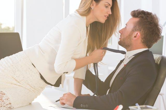 Büro sex Bums Buero