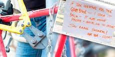 Netz feiert dreisten Fahrrad-Dieb - das ist der Grund