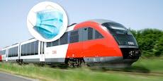 Maskenpflicht in Zügen: ÖBB strafen täglich 50 Mal
