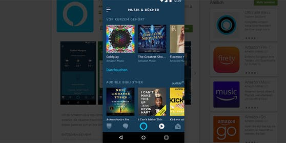 Alexa App-Update mit neuem Startbildschirm.