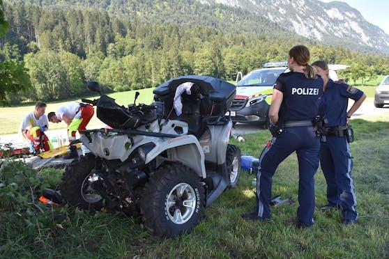 In Unterlangkampfen ereignete sich am Dienstag (28.07.2020) ein schwerer Verkehrsunfall.