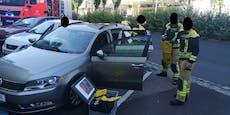 Eingesperrt! Baby aus Auto gerettet