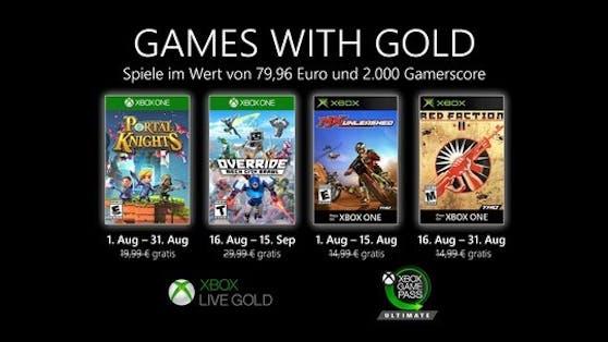 Games with Gold: Diese Spiele gibt es im August gratis.