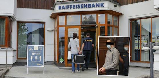 Der Beschuldigte soll eine Bank in Gurten überfallen haben.