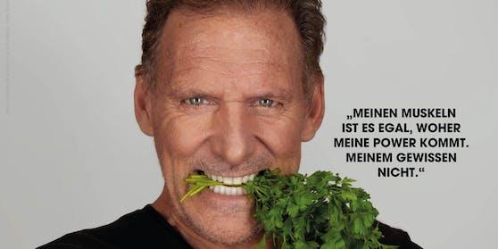 Ralf Möller für PETA: Pflanzenfresser.