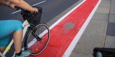 Neuer Radlweg in Linz blättert schon wieder ab