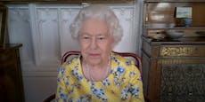 Das trägt die Queen bei einem Zoom-Call
