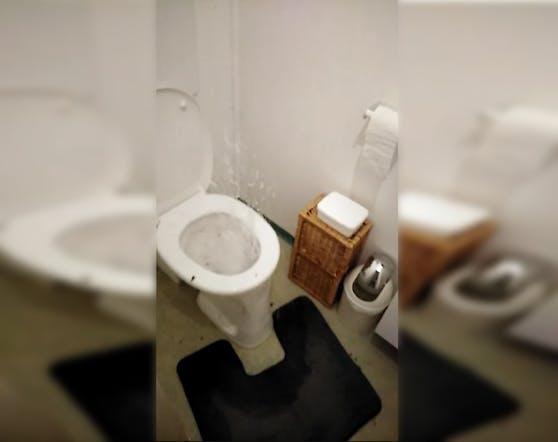 Die Toilette sprudelte komplett über.