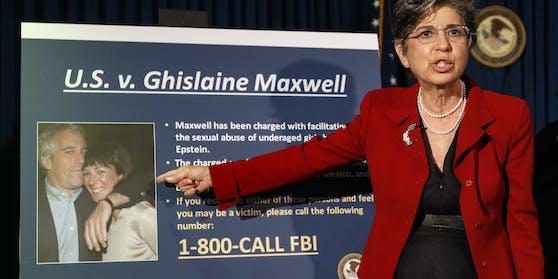 """Maxwell gehörte laut Staatsanwältin Audrey Strauss (im Bild) zu Epsteins """"engsten Verbündeten"""" und spielte eine """"entscheidende Rolle"""" bei seinen Machenschaften."""