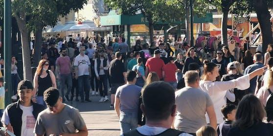 Menschen im Wiener Prater