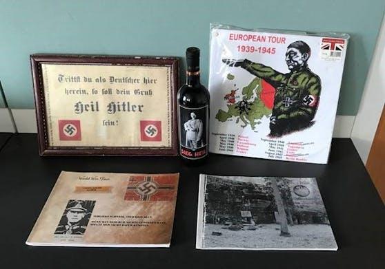 Sichergestellte Nazi-Devotionalien