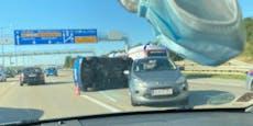 Crash auf A2 bei Wien: Riesiger Stau im Abendverkehr