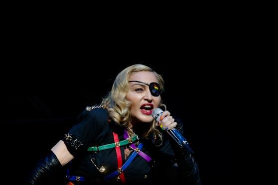 Madonna bei einem Konzert in New York.