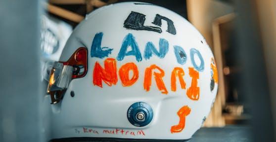 Der neue Helm von Lando Norris
