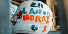 McLaren-Pilot fährt mit Helm-Design von Sechsjähriger