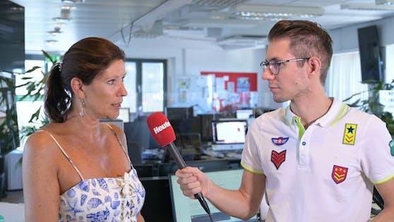 """Marion Nachtwey berichtet """"Heute.at""""-Chefredakteur Clemens Oistric über ihre Erfahrungen mit Corona am Wolfgangsee."""