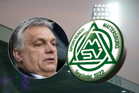 Ein Freund von Ungarn-Premier Viktor Orban (l.) hat Interesse an Mattersburg