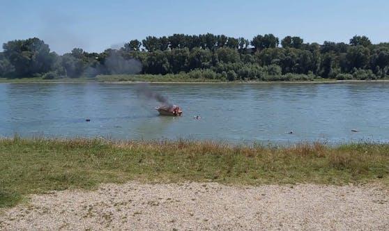 Alarm um Boot auf der Donau