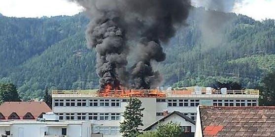 Die NMS St. Marein im Mürztal stand in Flammen